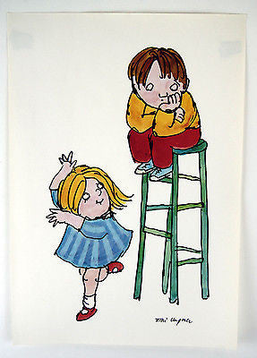 Vintage 1970's Tomi Ungerer Crunchy Corny Slightly Salty People Poster Print 1