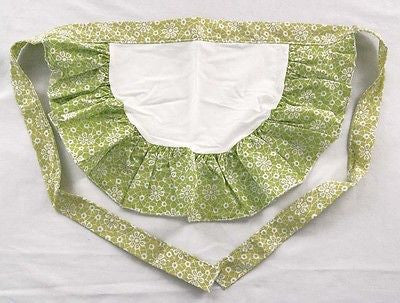 Vintage 1950's Green and White Cocktail Apron