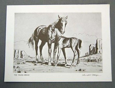 Vintage Churchill Ettinger The Young Brave Print