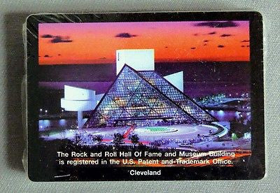 Vintage Rock and Roll Hall of Fame Poker Size Playing Cards