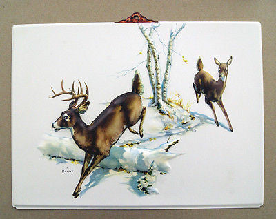 Vintage 1970's Fred Sweney Deer Formcraft Vacuum Form Print 1