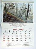 Vintage 1991 2019 David Maass Wildfowl Calendar 2