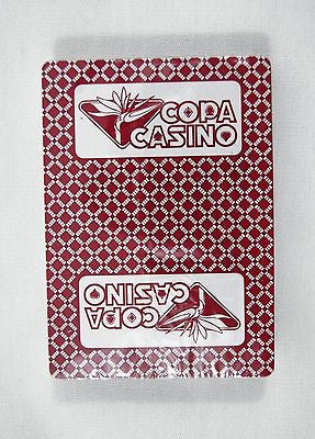Vintage Copa Casino Poker Size Red Playing Cards