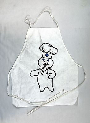 Vintage 1980's Pillsbury Doughboy Childrens Kids Two Apron Set