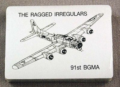 WWII The Ragged Irregulars 91st Bomb Group B-17 Bomber Silver Playing Cards