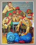 Vintage 1981 Joseph Csatari The Patrol Leader Boy Scouts Of America Print