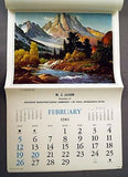 Vintage 1984 Famous Artists of America Calendar 12 Different Artists