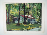 Vintage 1968 Dwight D. Eisenhower Cabin at Camp David Canvas Print