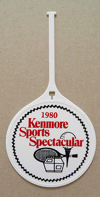 Vintage 1980 Sears Kenmore Sports Spectacular Golf Bag Tag Luggage Tag