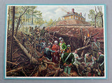 Vintage 1970's Mort Kunstler The Capture Of Fort Motte Print