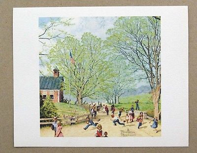 Vintage Norman Rockwell Carefree Days Ahead Childhood Treasures Series Print 2
