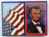 Jon Arfstrom Abraham Lincoln and American Flag Playing Cards Set