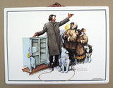 Vintage Norman Rockwell The Expert Salesman Formcraft Vacuum Form Print