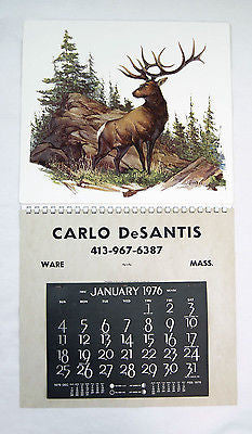 Vintage 1976 Fred Sweney The Wapiti Elk Formcraft Vacuum Form Calendar