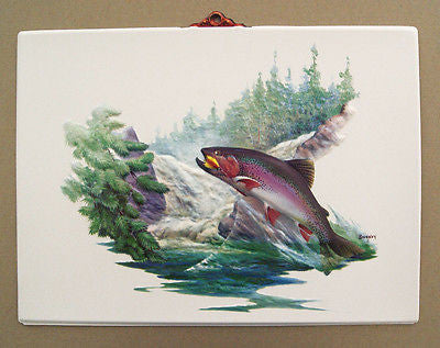 Vintage 1970's Fred Sweney Rainbow Trout Formcraft Vacuum Form Print