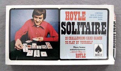 Vintage 1980 Hoyle Solitaire Playing Card Game Set