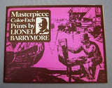 Vintage Lionel Barrymore Color Foil Etch 4 Print Set Number 241-112X