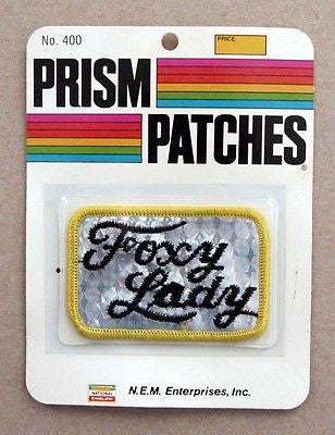 Vintage 1970's Foxy Lady Reflective Prism Patch 1