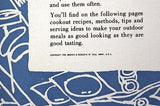 Vintage 1959 Brown and Bigelow Outdoor Cooking Cookbook Booklet