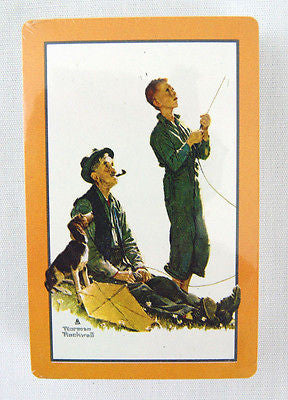 Vintage Norman Rockwell Soaring Spirits Four Seasons Series Playing Cards