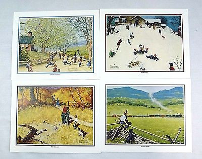 Vintage 1970's Norman Rockwell Childhood Treasures  Print Set