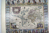 Nova Totius Terram Orbis Geographica AC Hydrographica Tabula Old World Map