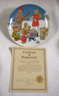 Vintage 1981 Limited Edition Bil Keane Family Circus Christmas Collector Plate
