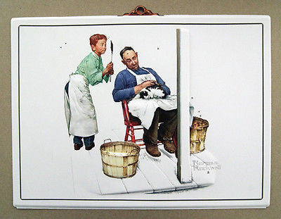 Vintage Norman Rockwell Swatter's Rights Formcraft Vacuum Form Print