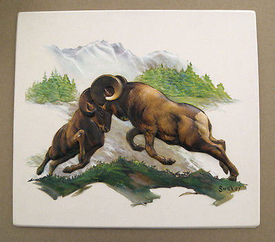 Vintage 1960's Fred Sweney Big Horn Sheep Formcraft Vacuum Form Print