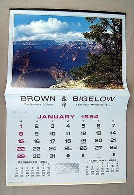 Vintage 1984 2040 Brown and Bigelow Scenic America Calendar