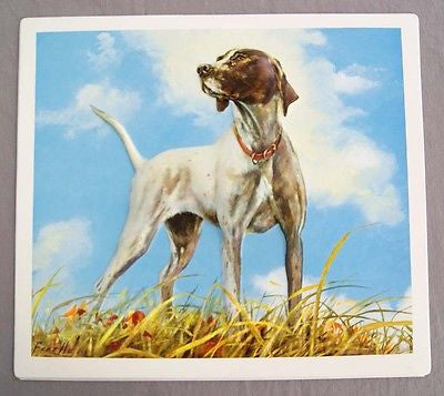 Vintage 1970's Stanford Fenelle The Champion Pointer Vacuum Form Print