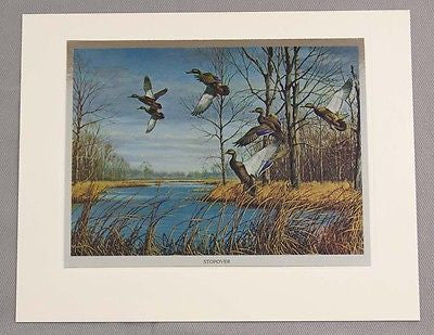 Vintage 1970's David Maass Wilderness Wings Color Foil Etch Print Set 245-114
