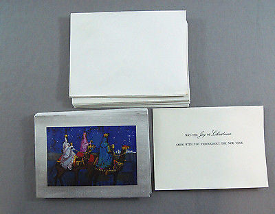 Vintage 1970's Three Kings Three Wise Men Christmas Greeting Card Set 25 Cards