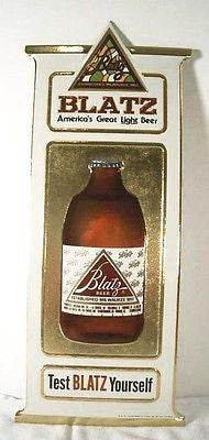 Vintage 1981 Embossed Blatz Beer G. Heileman Brewing Company Sign