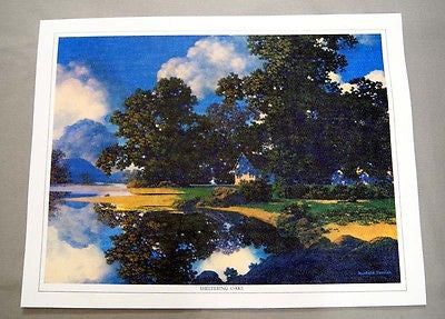 Vintage 1970's Maxfield Parrish Sheltering Oaks Canvas Print