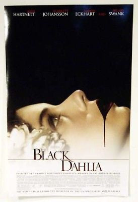 2006 The Black Dahlia Movie Poster Josh Hartnett Scarlett Johansson