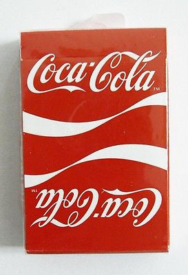 Vintage 1984 Coca Cola Coke Double Logo Reverse Logo Two Logo Playing Cards