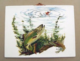 Vintage 1970's Fred Sweney Dolly Varden Trout Formcraft Vacuum Form Print