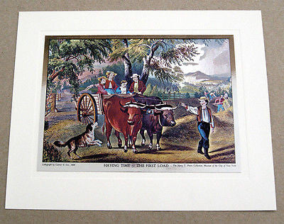 Vintage Currier and Ives Nostalgic America Foil Etch Print Set 244-120