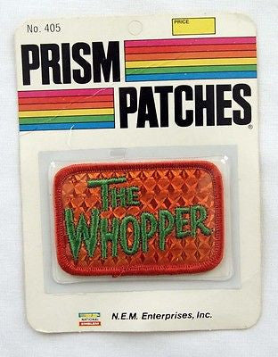Vintage 1970's The Whopper Reflective Prism Patch