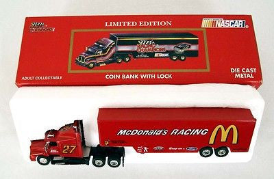 1993 Racing Champions NASCAR Limited Edition McDonald's Racing Diecast Coin Bank