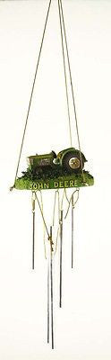 Vintage Limited Edition John Deere Lawn Mower Poly Resin Wind Chime