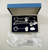 Vintage 1972 Miniature Replica U.S. Coin Jewelry and Key Chain Set
