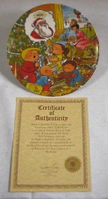 Vintage 1980 Limited Edition Bil Keane Family Circus Christmas Collector Plate