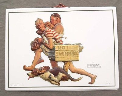 Vintage 1991 Norman Rockwell Hasty Retreat Formcraft Vacuum Form Print