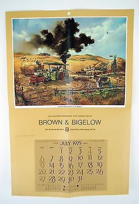 Vintage 1975 Fred Sweney Threshing Days Calendar Print