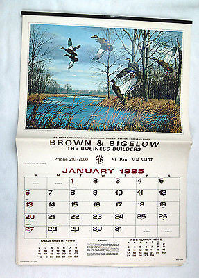 Vintage 1985 2019 David Maass Wildfowl Calendar