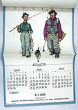Vintage 1985 2019 Norman Rockwell Old Sports Four Seasons Calendar
