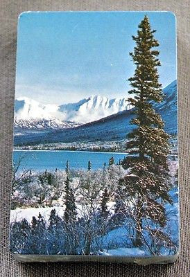 Vintage 1980's Alaska Lake and Mountain Scenic Playing Cards Deck