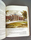 Vintage 1977 The Halls of Fame Hand Crafted Mission Leather Bound Book